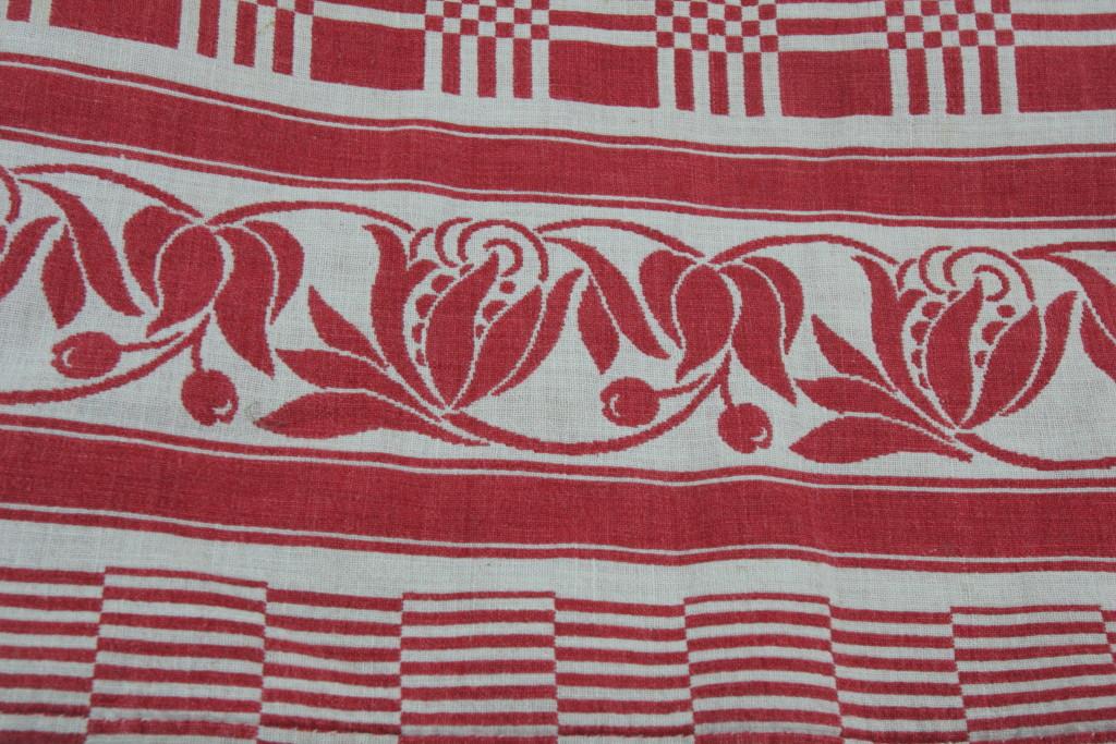 nappe ancienne rouge et blanche coton ebay. Black Bedroom Furniture Sets. Home Design Ideas