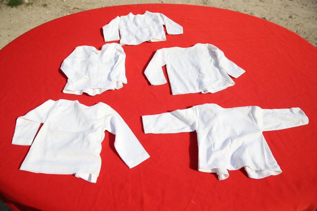 Liberale 5 Brassières Chemises Coton Blanc Vintage Babissec Neuves 3 Mois